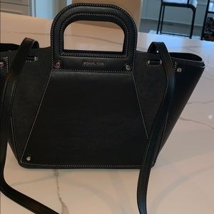12019816fd2b Michael Kors large Black suede and Leather Clara